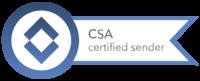 Die KBV ist zertifizierter Newsletter-Versender. ©Logo: CSA