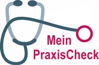 """Stilisiertes Stethoskop als Logo für """"Mein PraxisCheck"""""""