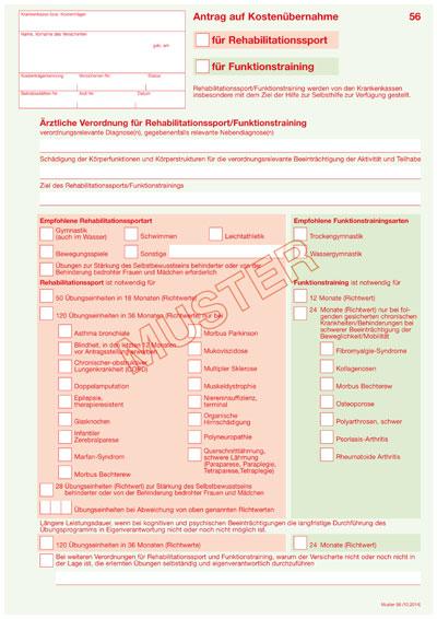 seite des muster 56 muster 56 antrag auf kostenbernahme - Antrag Kostenubernahme Krankenkasse Muster
