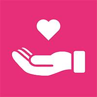 Symbol Hand mit Herz