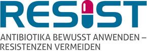 Logo RESIST - Antibiotika bewusst anwenden - Resistenzen vermeiden
