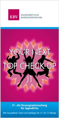 Titelseite des J1-Flyers zeigt Silhouette von 3 jungen, tanzenden Menschen