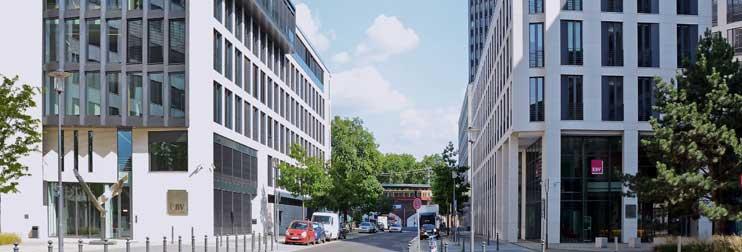 Die beiden Verwaltungsgebäude der KBV in Berlin