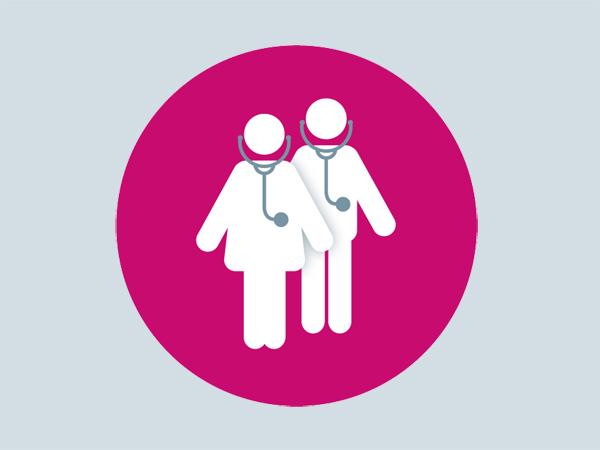 Dating-Arzt beschäftigt