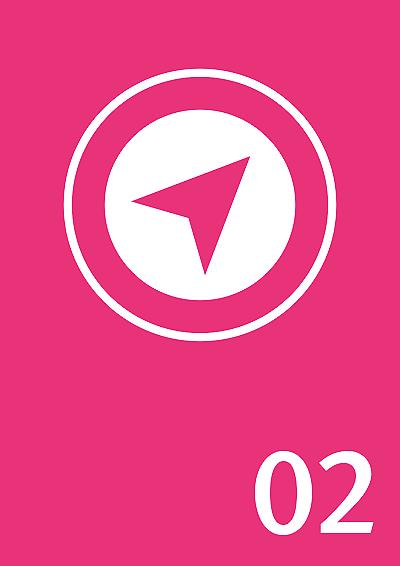 Symbolbild: Kompassnadel für Navigation, Zahl: 02