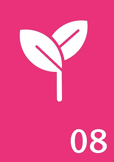 Symbol: Pflanzensprosse, Zahl: 08