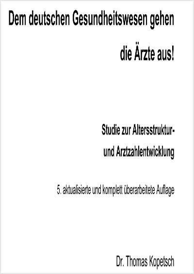 Titelbild Arztzahlstudie 2010