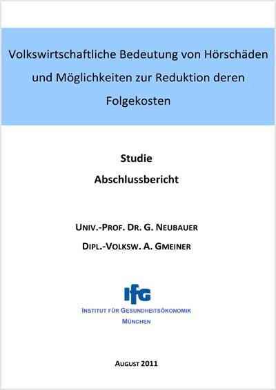 Titelbild Studien zu Gehörschäden