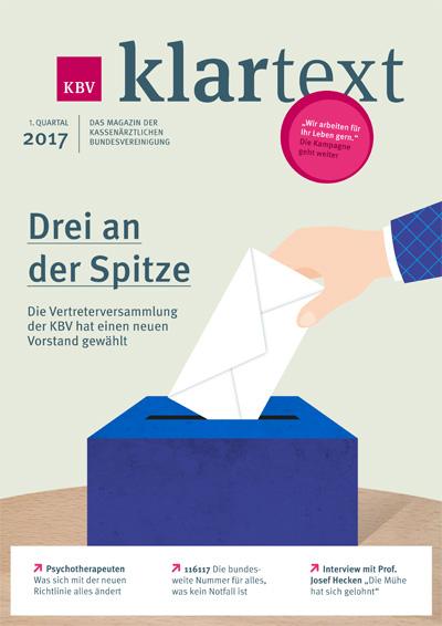 Hand steckt Abstimmungszettel in eine Kiste