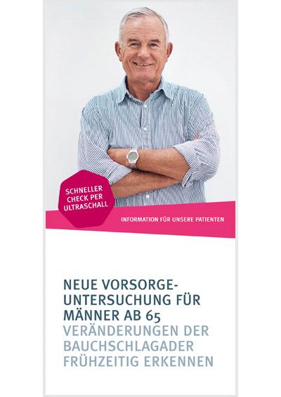 Flyer-Titel zum Thema Bauchaortenaneurysmen
