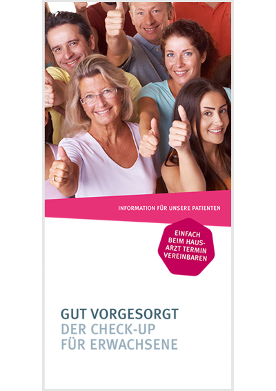 Flyer-Titel zum Thema Check-up 35