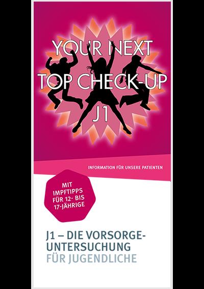 Flyer-Titel zur Jugendgesundheituntersuchung J1