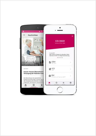 Smartphones mit KBV2GO-App