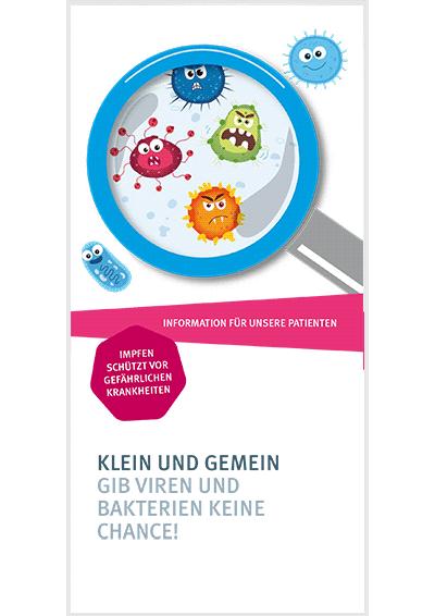 Flyer-Titel zum Thema Impfen