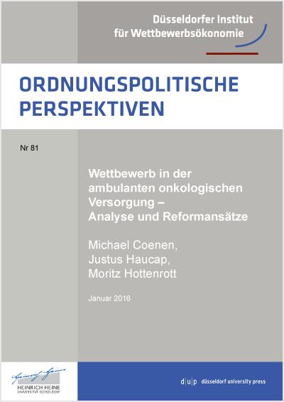 """Titel der Studie """"Wettbewerb in der ambulanten onkologischen Versorgung – Analyse und Reformansätze"""""""