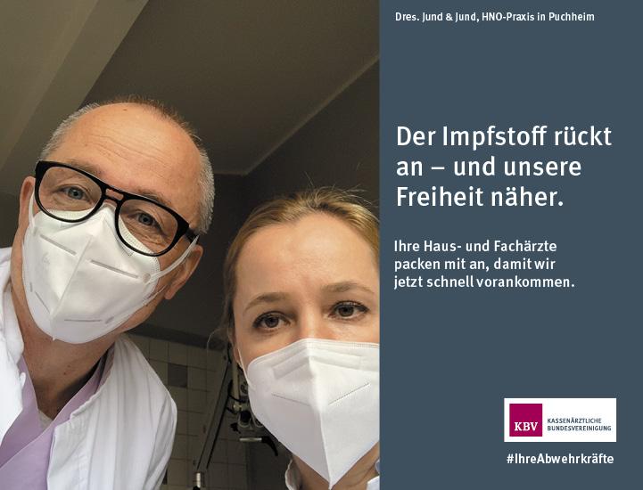 Dres. Jund & Jund, HNO-Praxis in Puchheim. Der Impfstoff rückt an - und unsere Freiheit näher. Ihre Haus- und Fachärzte packen mit an, damit wir jetzt schnell vorankommen.